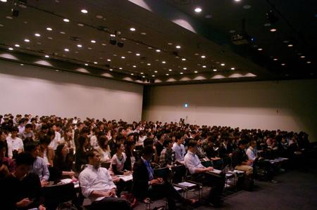 会場には参加者、関係者を含め500名以上が集まった